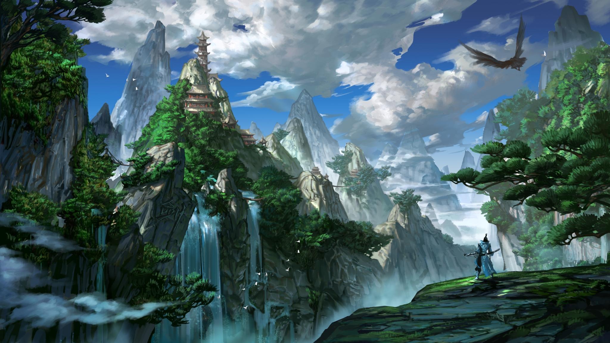 壁纸 风景 旅游 瀑布 山水 桌面 2048_1151图片